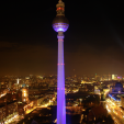 Festival of Lights from Park Inn, Alexanderplatz