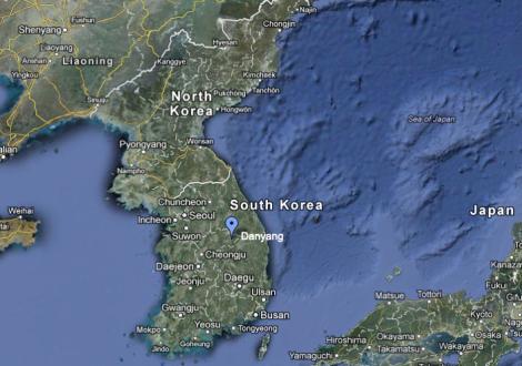 Danyang, South Korea. Image credit: Google Maps.