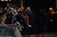 "Tom Hiddleston waving goodbye to his fans at the Berlin premiere of ""Thor 2."" Copyright Caitlin Hardee"