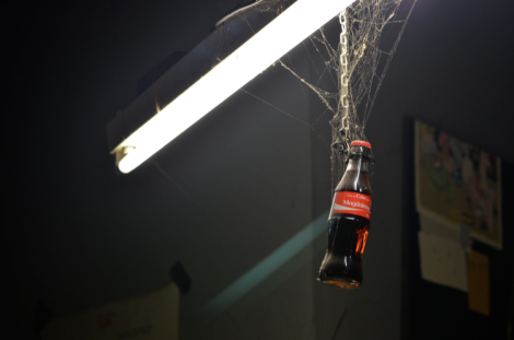 """Magdalena"" coke bottle in the club offices"