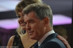 """A Long Way Down"" costars Pierce Brosnan and Imogen Poots at the 2014 Berlinale film festival."