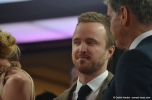 """A Long Way Down"" costars Aaron Paul and Pierce Brosnan at the 2014 Berlinale film festival."