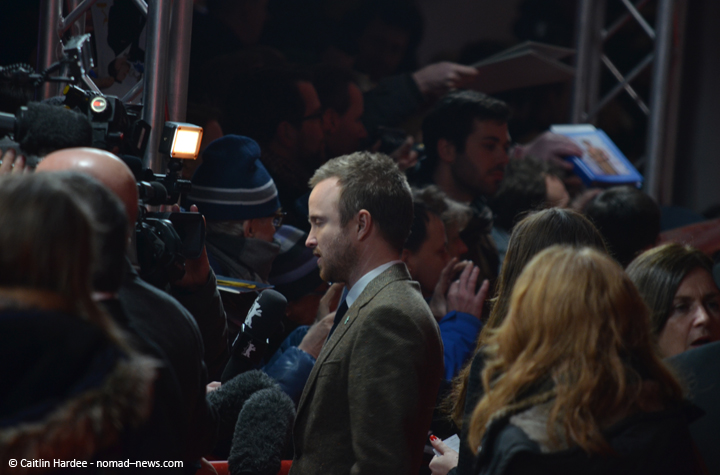 Aaron Paul talks to the press at the 2014 Berlinale film festival.
