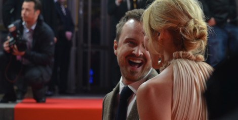 "Aaron Paul at the 2014 Berlinale premiere of his new film, ""A Long Way Down."""