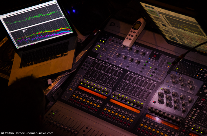 Soundbooth at Lorde show in Berlin. Copyright: Caitlin Hardee, Nomad News.