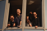 Tokio Hotel wave to fans at radio SAW in Magdeburg. Copyright: Caitlin Hardee