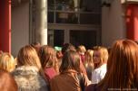 Tokio Hotel fans waiting at radio SAW in Magdeburg.