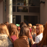 Tokio Hotel fans waiting at radio SAW in Magdeburg.