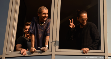 Tokio Hotel greet fans at the radio SAW studios in Magdeburg, Germany. Copyright: Caitlin Hardee