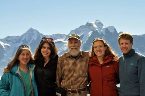 Family photo in the Swiss Alps