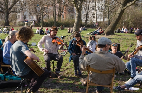 Old-Time Jam in the park.